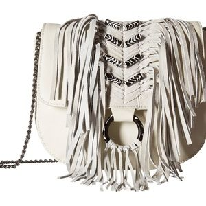 Sam Edelman handbag White Donna Flap w/ Beads